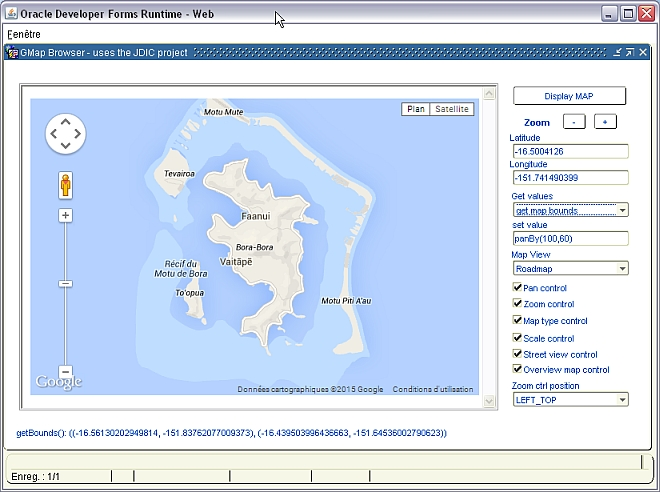 Web Browser to handle Google maps