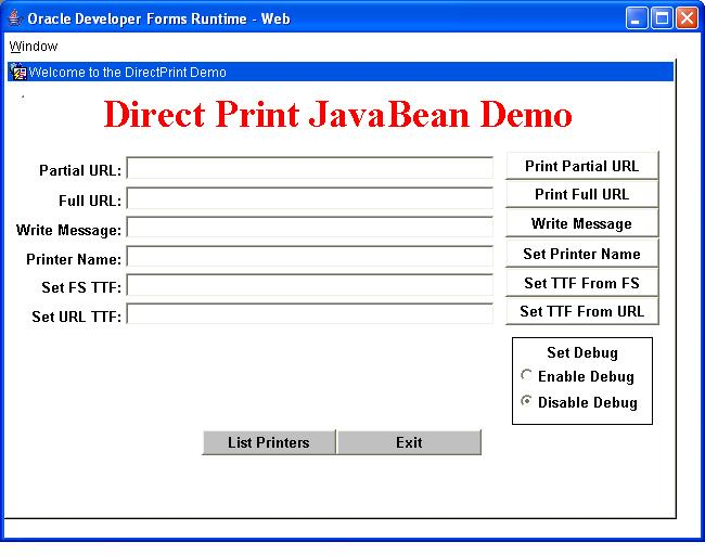 A Java Bean to print files to the local printer - Oracle